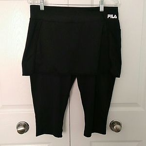 Fila skirted running pants size L